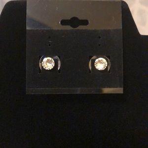 Jewelry - Clear Swarovski Crystal Stud Earrings
